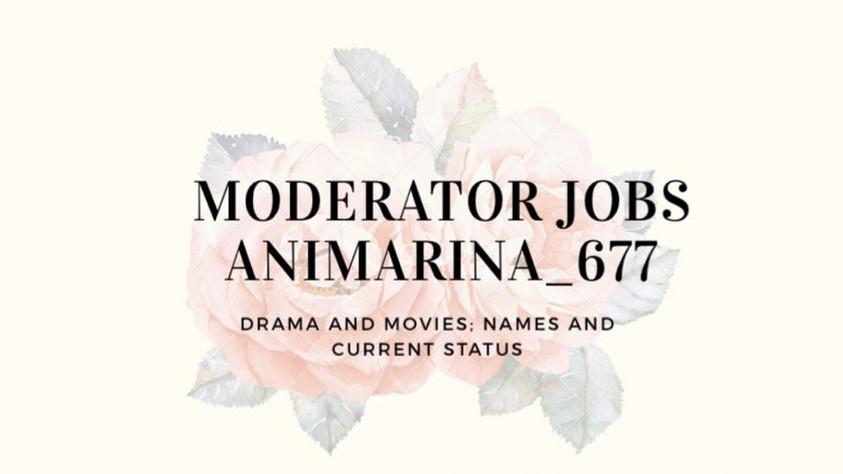 My moderator jobs