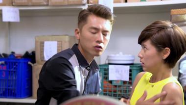 Han Jie pretends to kiss Xiao Rou: Cocina del Amor
